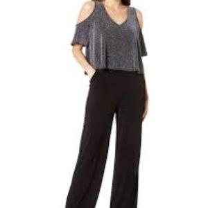 Karen Kane NEW Black Silver Womens Size L